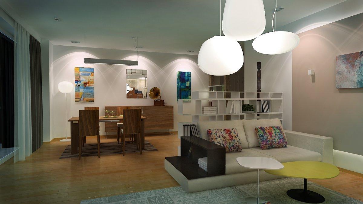 Amenajare interioara - Apartament accente Pop-art-13