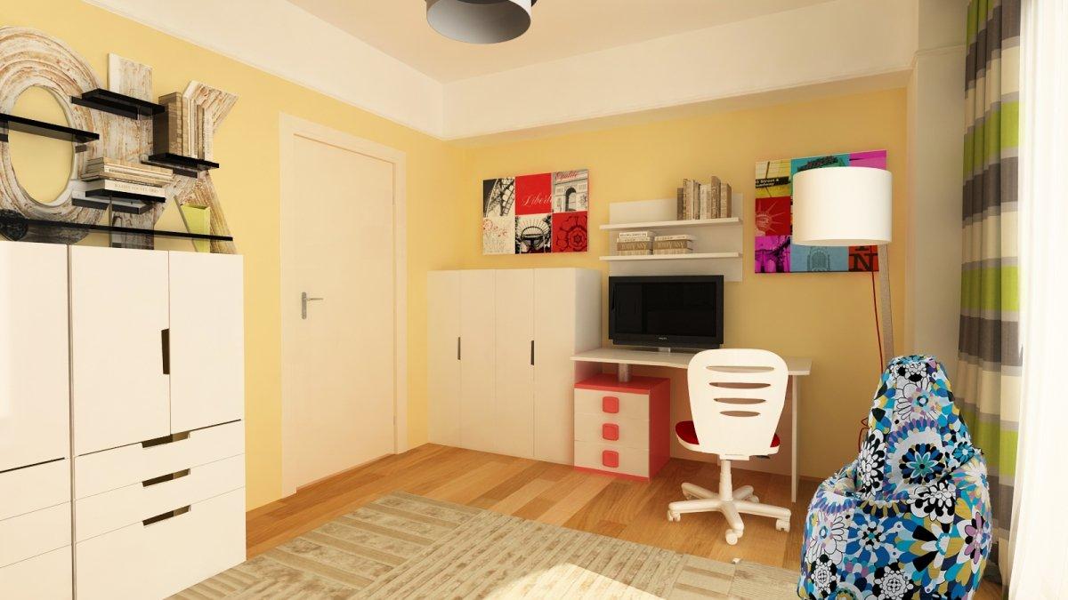 Amenajare interioara - Apartament accente Pop-art-24