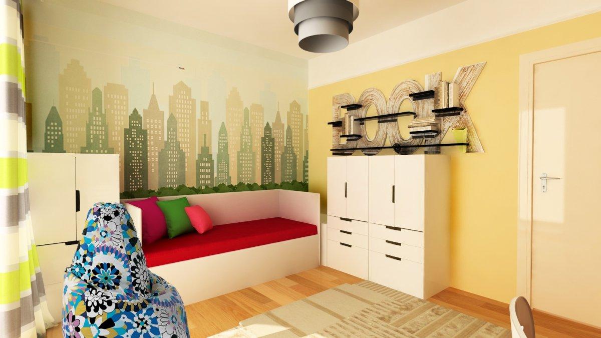 Amenajare interioara - Apartament accente Pop-art-25