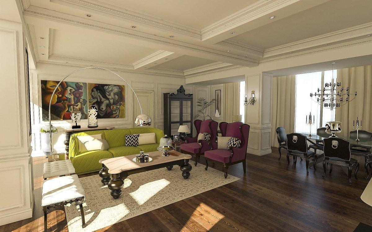 Amenajare interioara apartament- Farmecul stilului eclectic-1