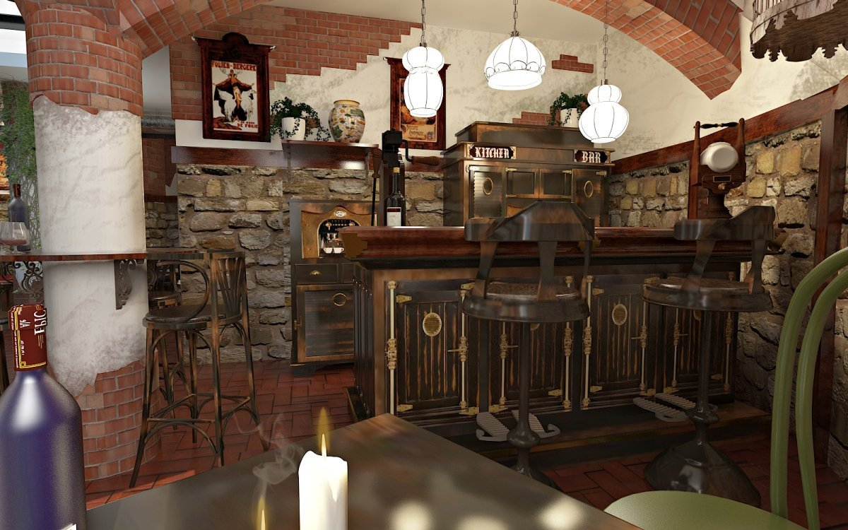 Design interior Cafenea Chateau de France-2