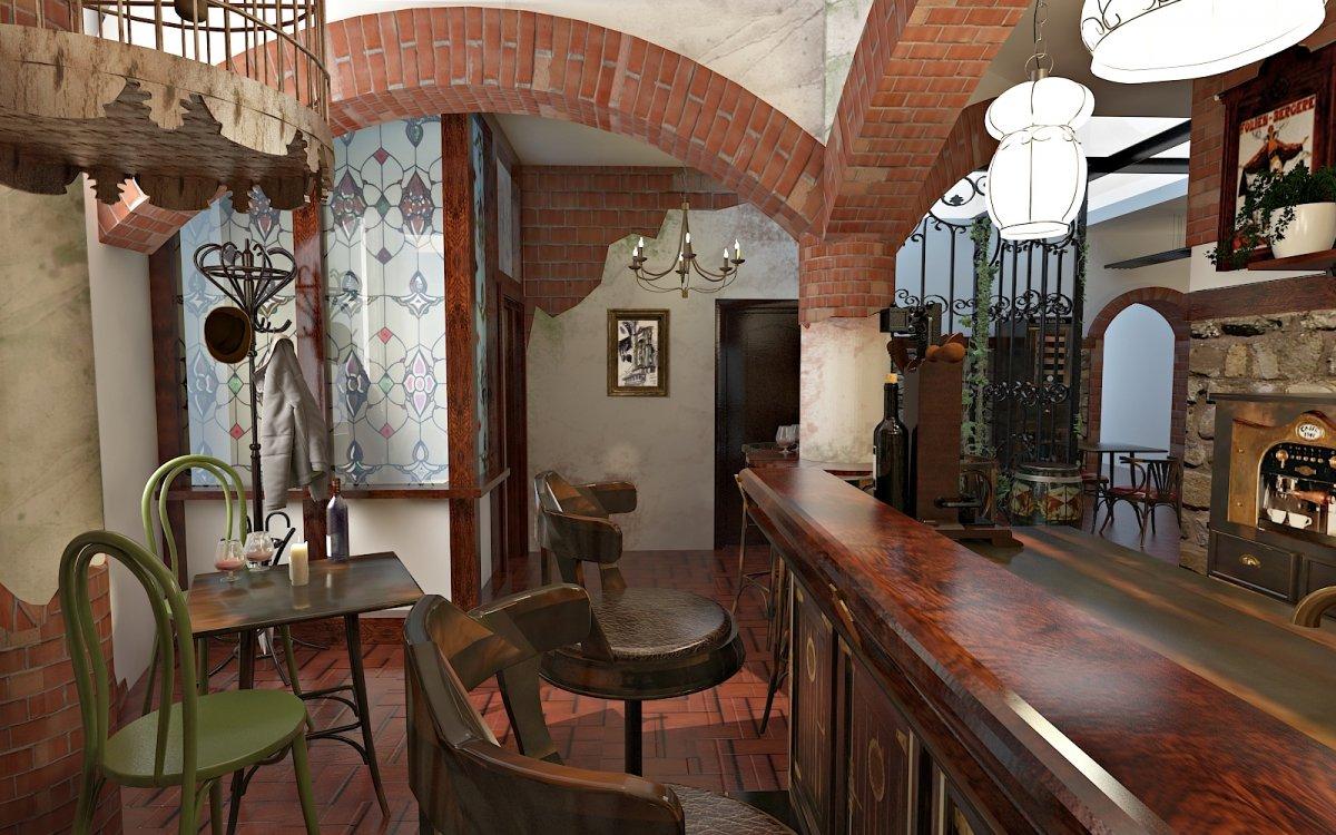 Design interior Cafenea Chateau de France-3