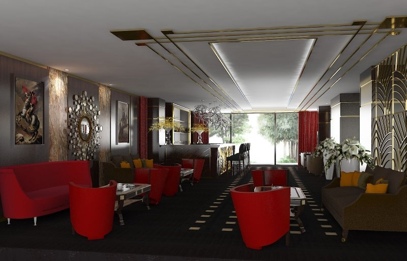 Design interior cafenea Double Tree By Hilton-1