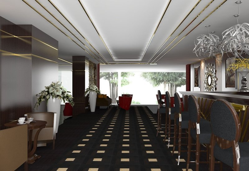 Design interior cafenea Double Tree By Hilton-3