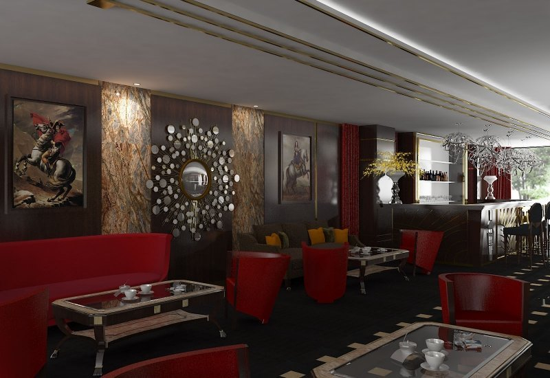 Design interior cafenea Double Tree By Hilton-4