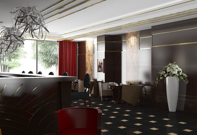 Design interior cafenea Double Tree By Hilton-5