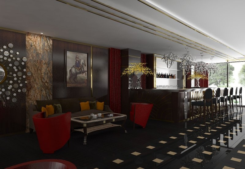 Design interior cafenea Double Tree By Hilton-7