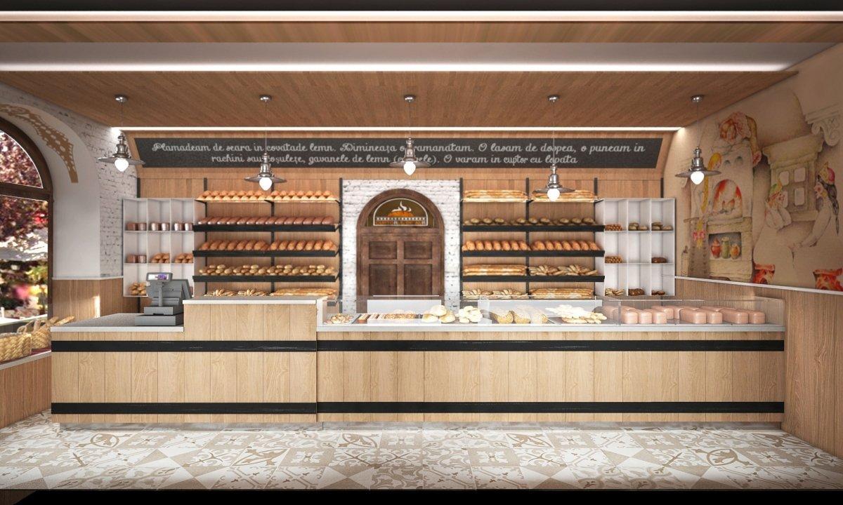 Design interior lant de brutarii- Cuptorul din poveste-1