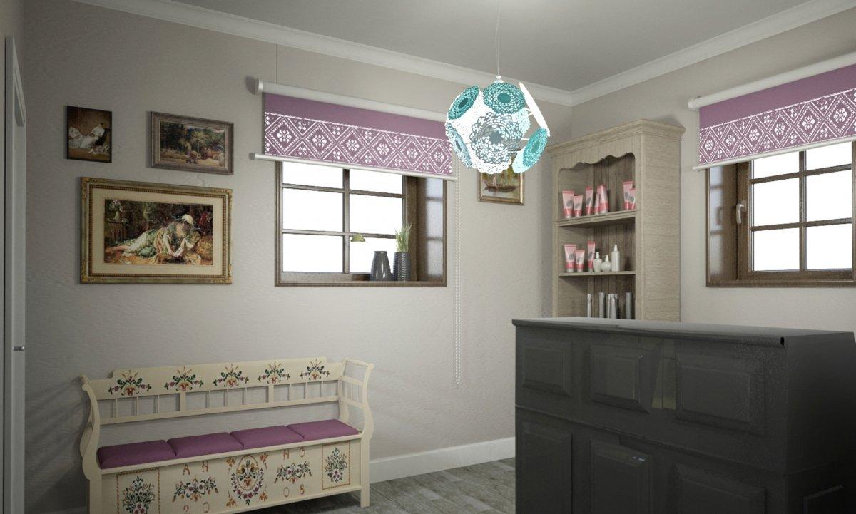 Design interior salon cosmetica si coafor Vila Margareta-3