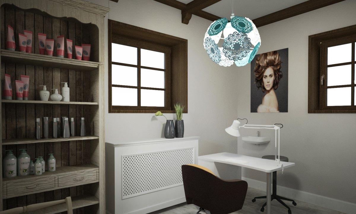 Design interior salon cosmetica si coafor Vila Margareta-7