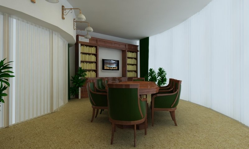 Proiect amenajare interioara - Birou - British-6