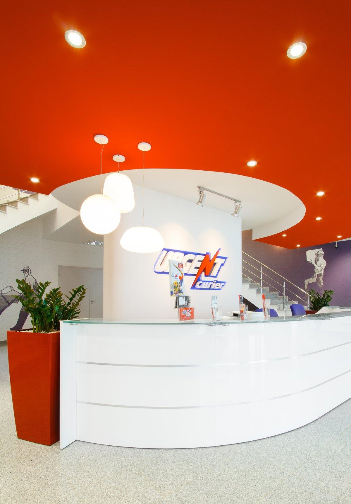 Proiect amenajare sediu firma - Urgent Curier- Receptie si sala de sedinte-2
