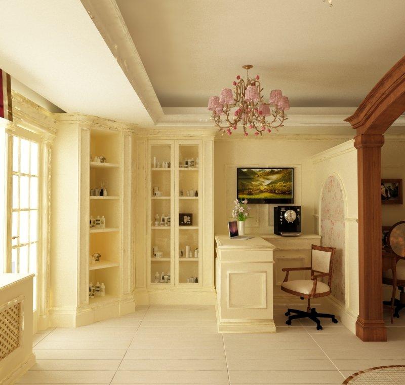 Proiect de design interior - Amenajare salon MakeUp - French Style-2