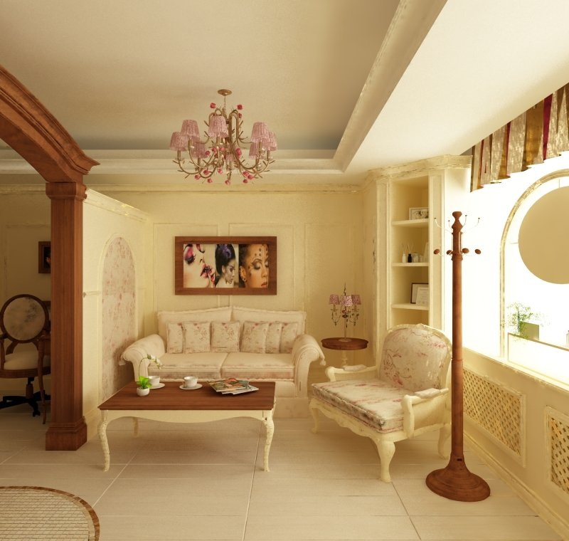 Proiect de design interior - Amenajare salon MakeUp - French Style-3