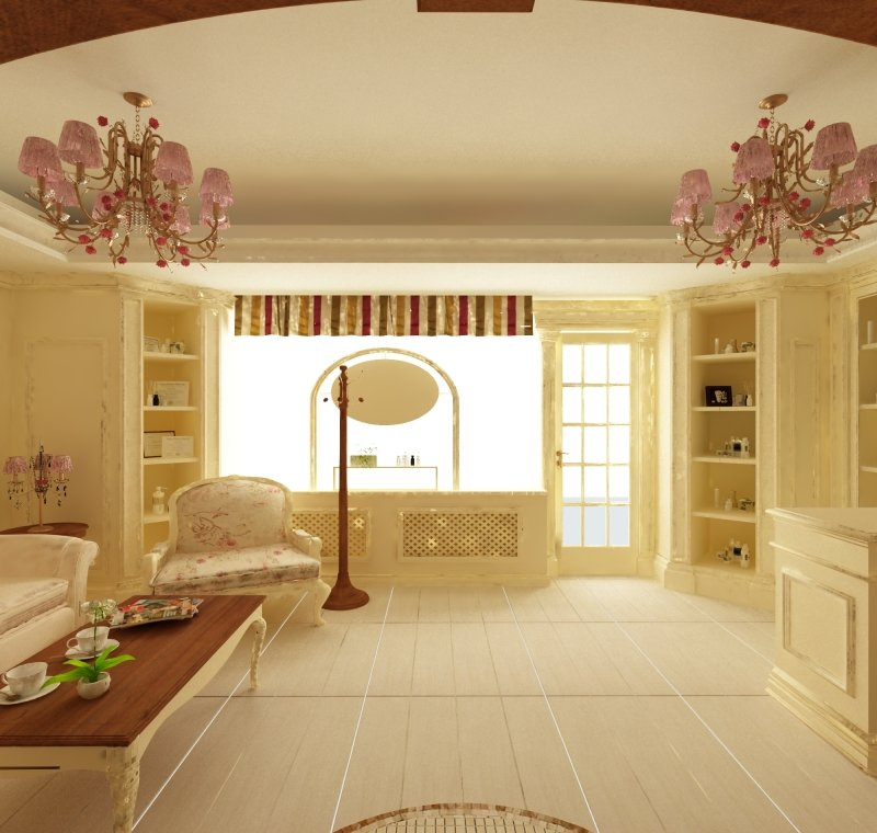 Proiect de design interior - Amenajare salon MakeUp - French Style-4