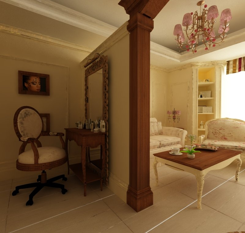 Proiect de design interior - Amenajare salon MakeUp - French Style-7