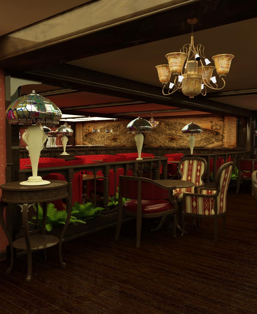stil british design interior cafenea brit cafe proiect amenajare studio insign proiect 3D
