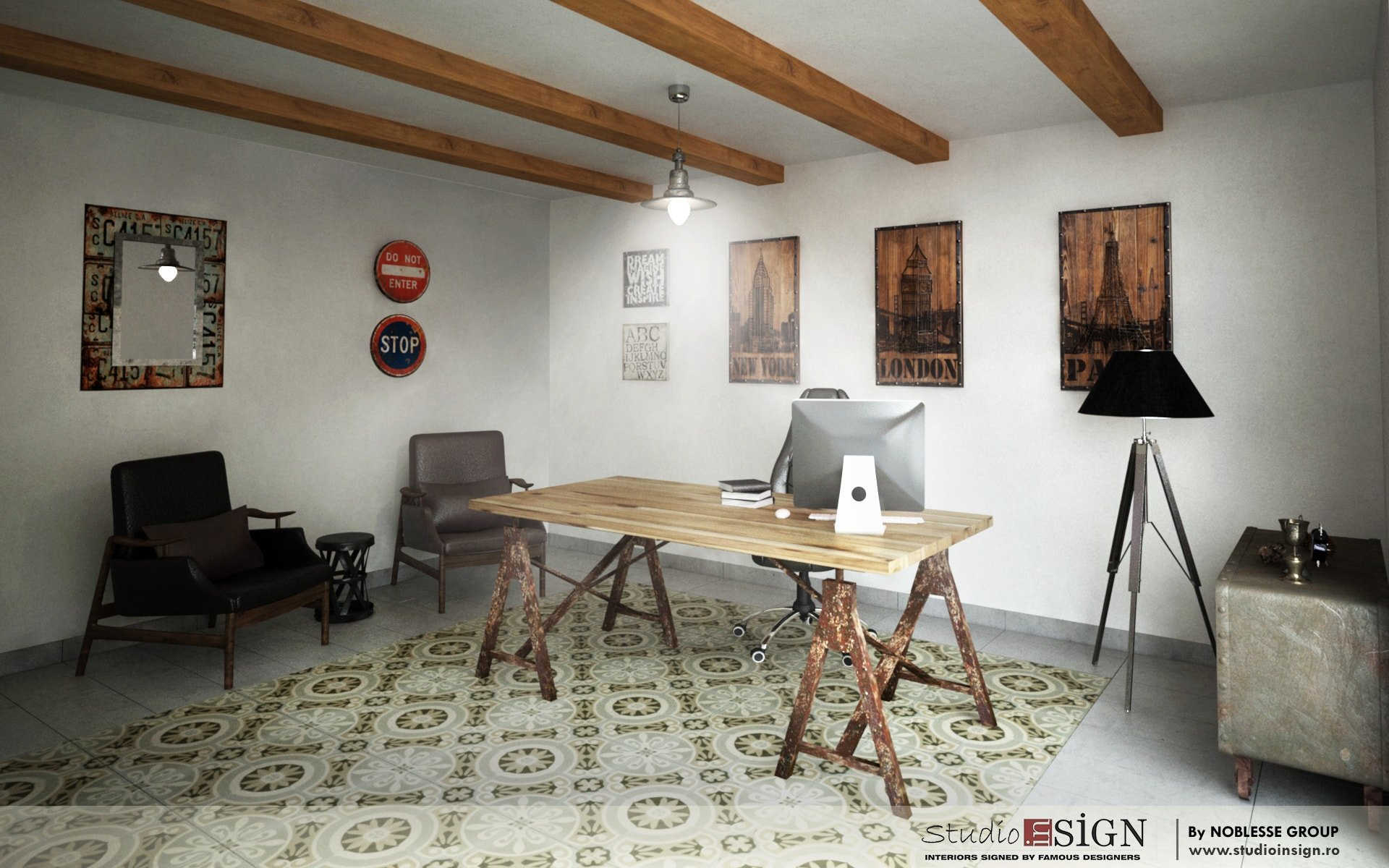 White impex offices craiova vintage industrial interior - Vintage industrial interior design ...