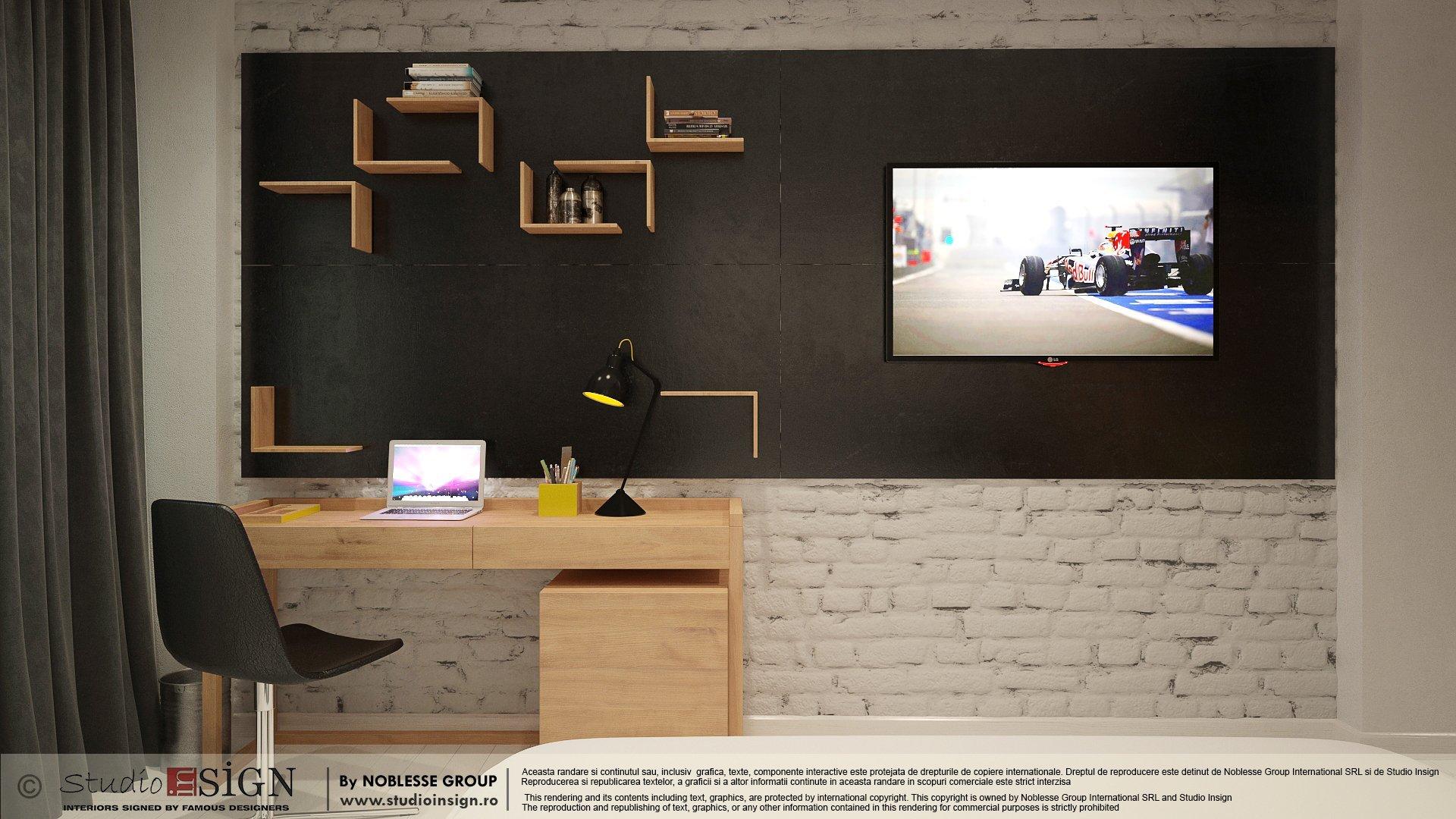 Proiect amenajare camera hotel in stil loft industrial newyorkez-seara-4