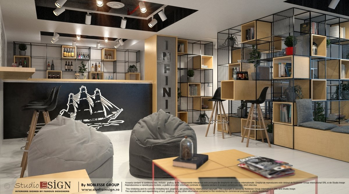Proiect design interior bar & lounge Infinit Bucuresti-1