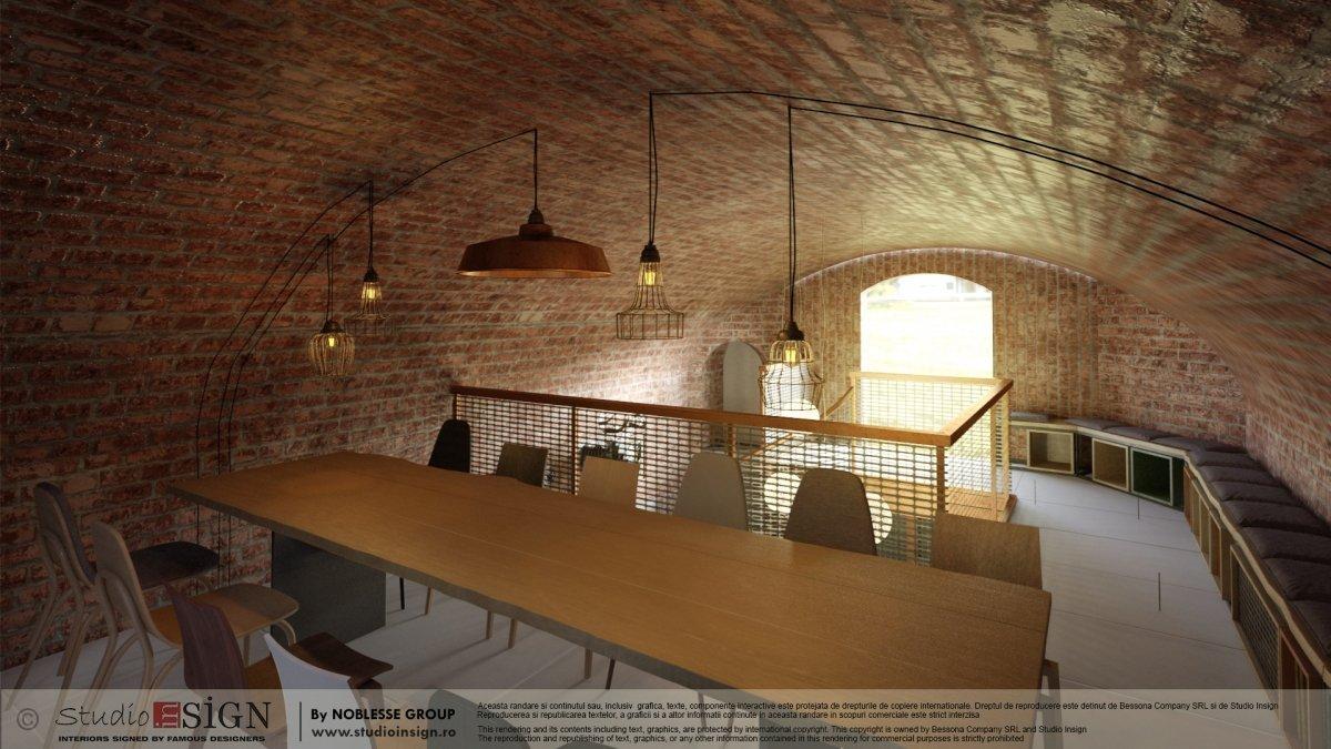 design interior Biblioteka Hub, Palatul Noblesse Bucurest