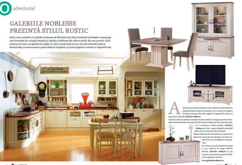Studio Insign Revista Domus, Martie 2012 - despre stilul rustic in amenajarile interioare