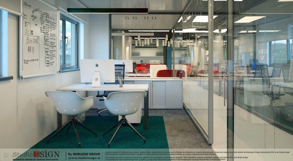 Amenajare sedii firma motoutilaje pentru agricultura Craiova studio insign