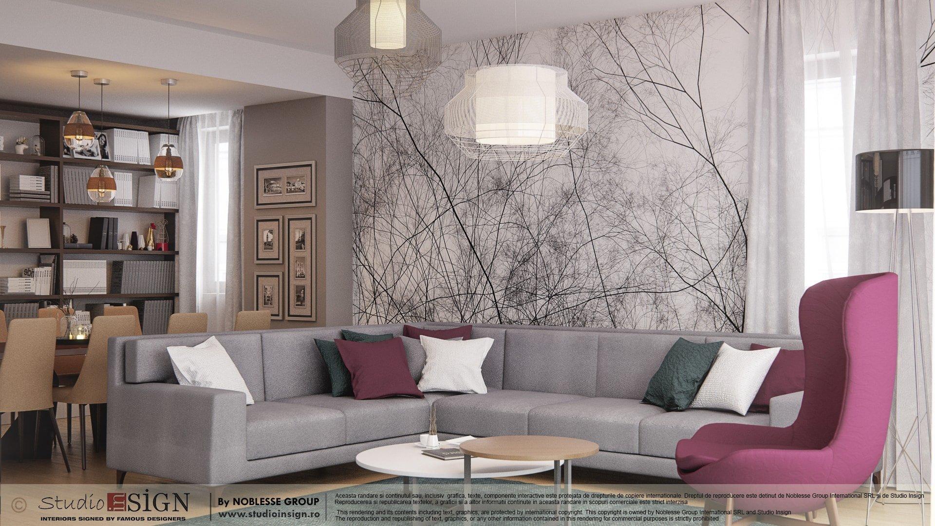 Apartment in bacau modern interior design studio insign - Interior design studio ...