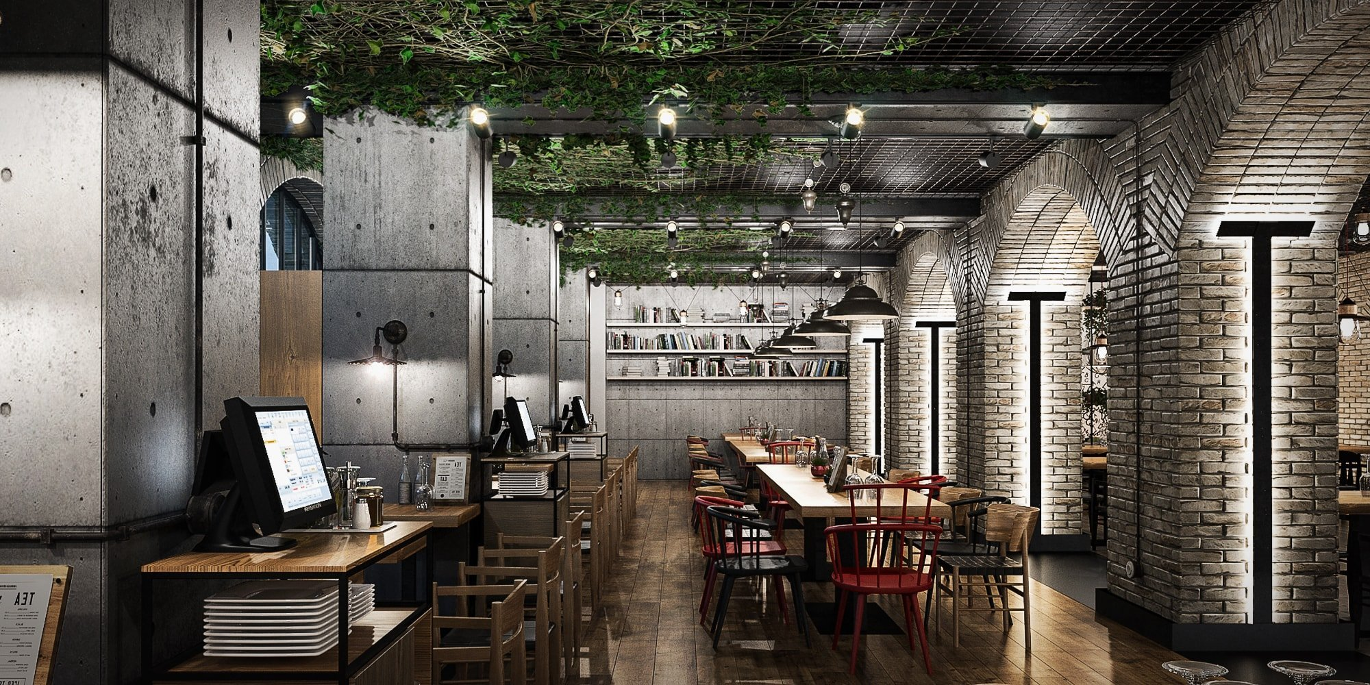 The Publisher Restaurant Industrial Design Style Studio Insign