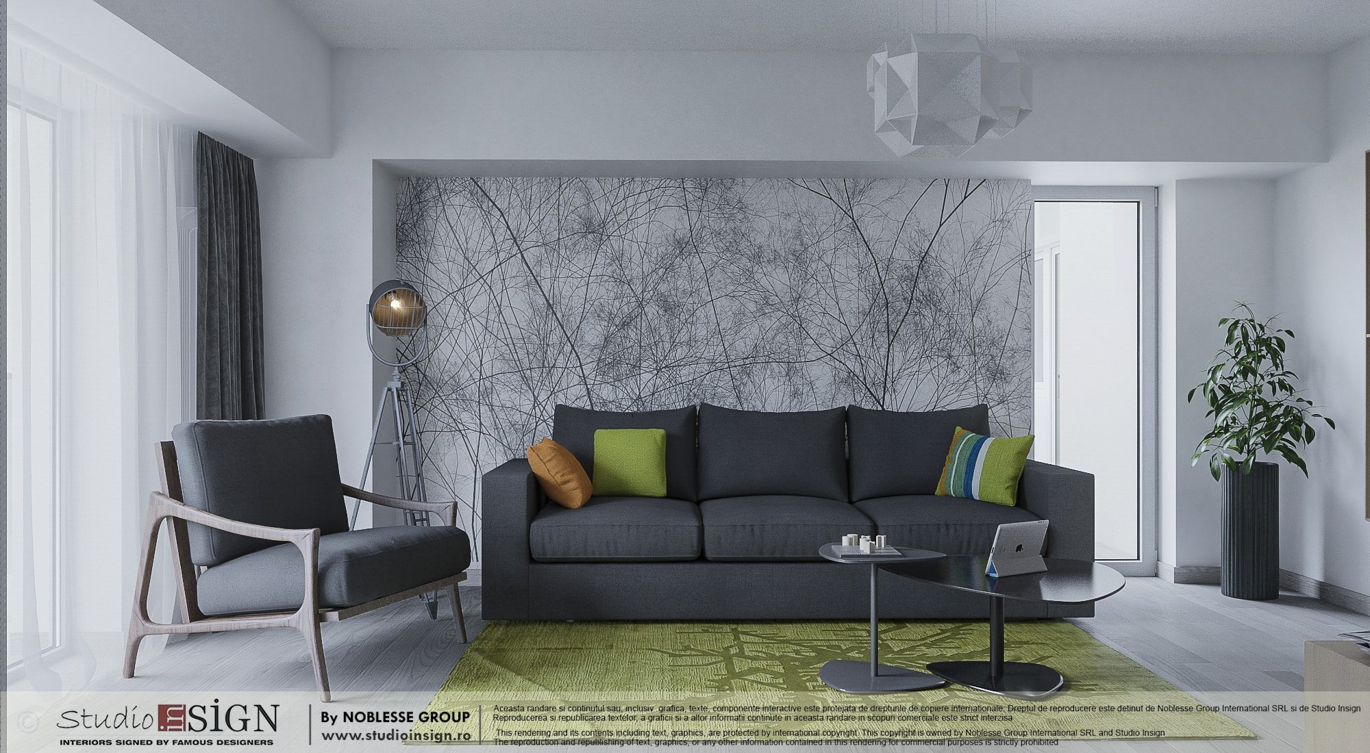 Apartment in bacau modern interior design studio insign - Interior design and decoration ...