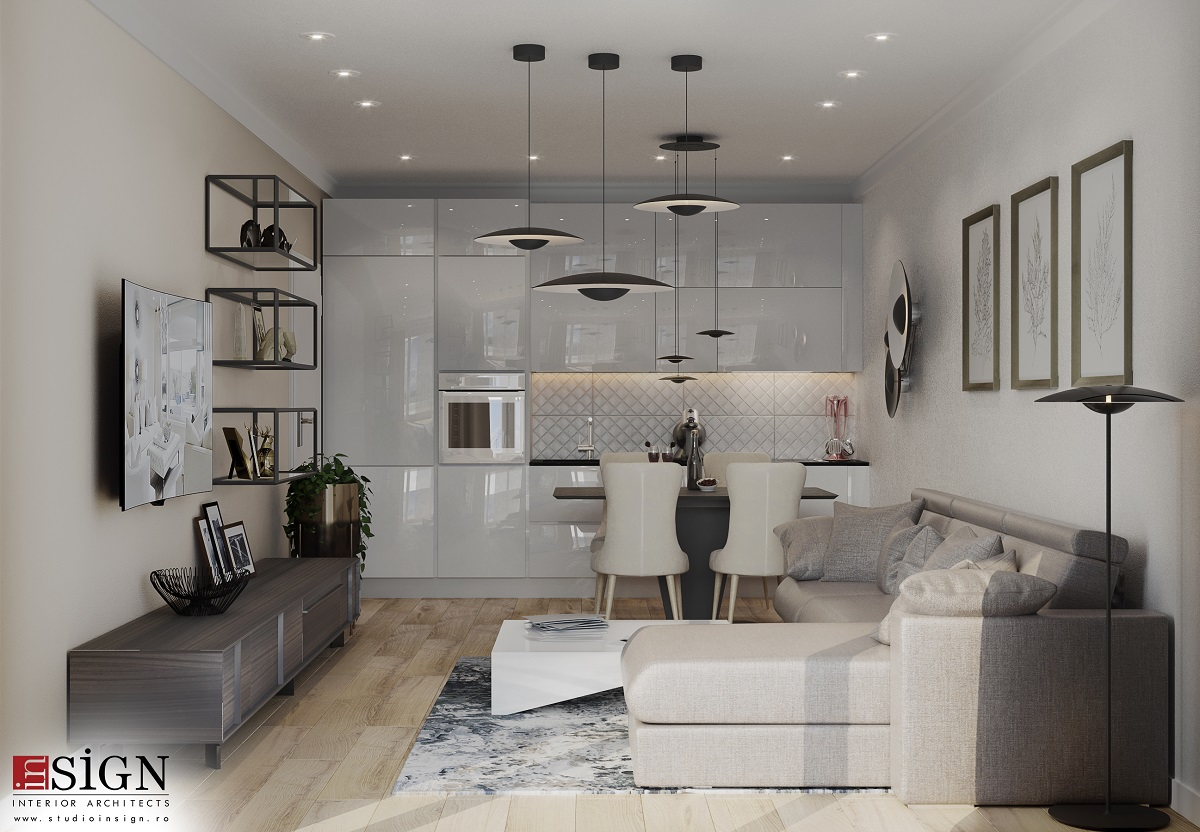 Apartment Project Designed In Modern Style Brasov Studio Insign