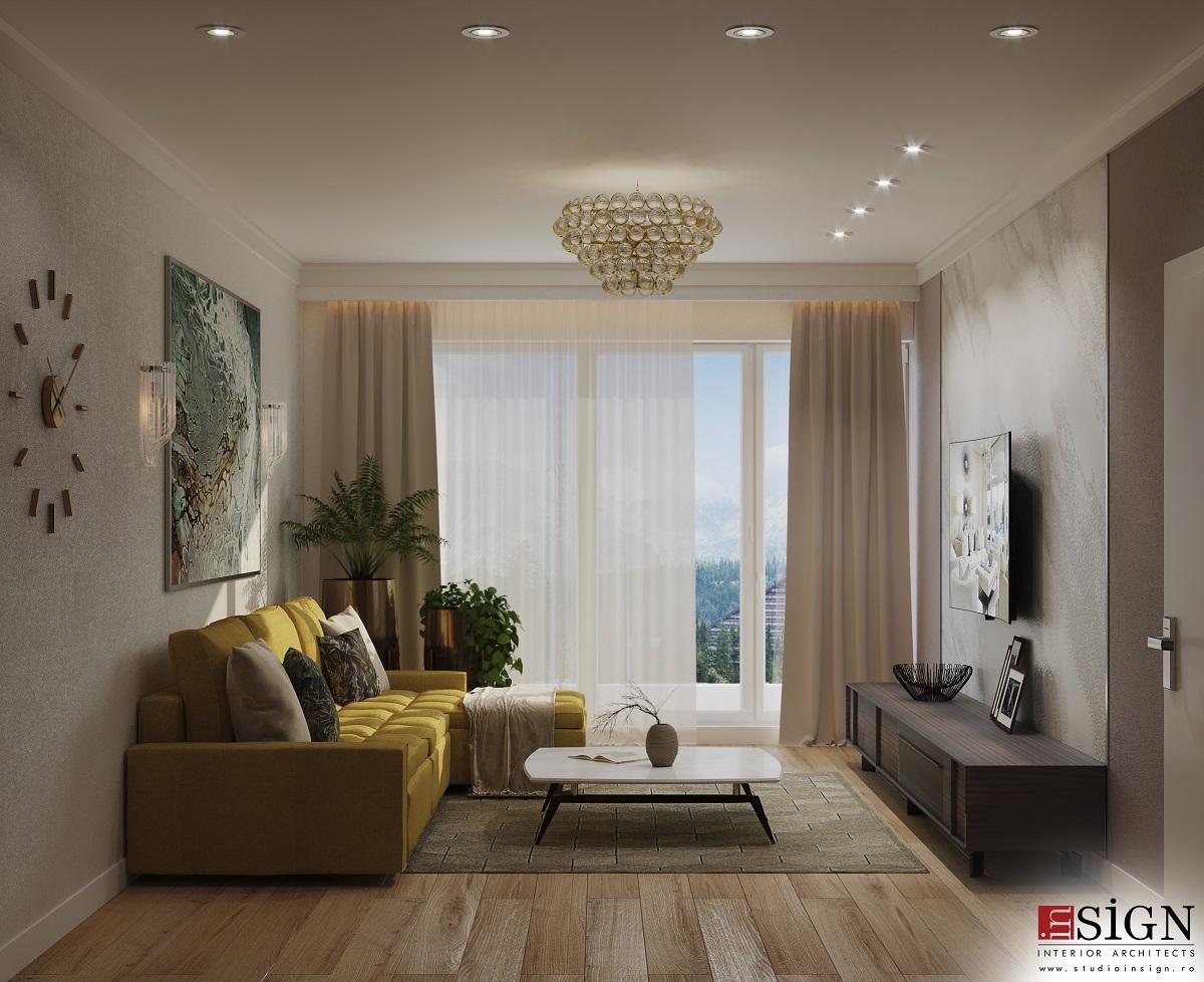 Design interior modern cu accente glamour 2