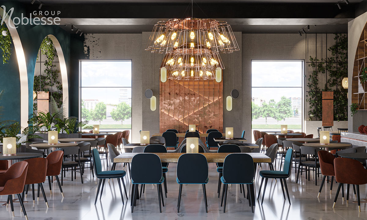 amenajare restaurant modern industrial