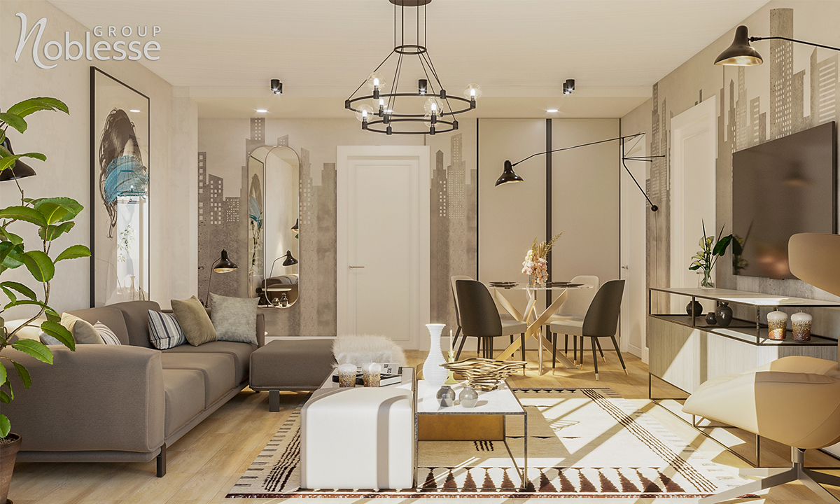 design interior living apartament 4 camere