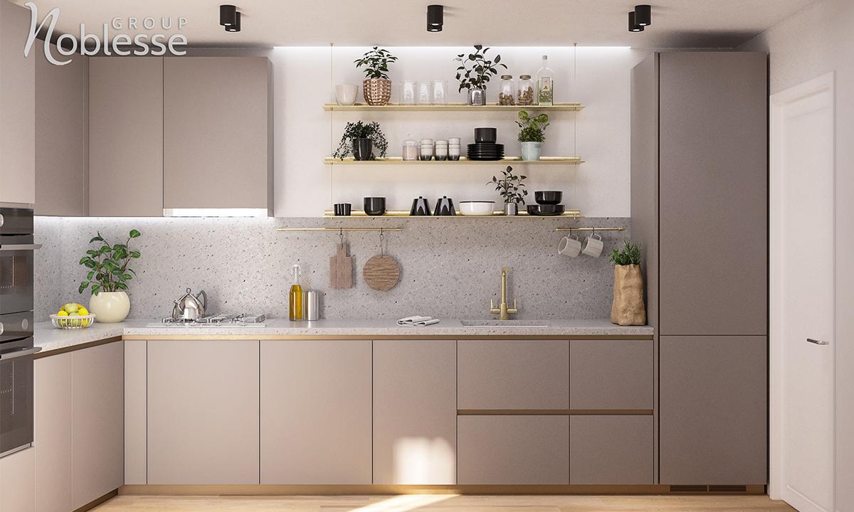 design interior bucatarie apartament 4 camere